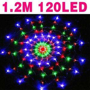 120 LED FAIRY STRING light Multi color PARTY spider light Xmas US