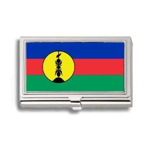 New Caledonia Caledonian 2 Flag Business Card Holder Metal