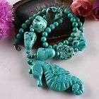Jewelry Tibet Ancient Tone Turquoise Bead Necklace 18