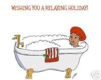 relaxing wish holidays Christmas cards African American