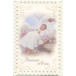 Baptism   Infant Lace Holy Card (NS731)   Spanish