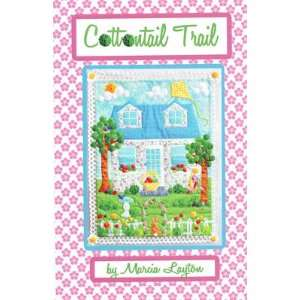 Cottontail Trails spring wall quilt pattern, embellished