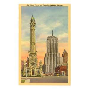 Water Tower and Palmolive Building, Chicago, Illinois Art