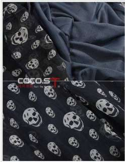 USD D72 Women Nana Punk Gothic Skull Dress T Shirt M