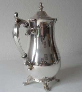 Wm. Rogers Silver Plate Tea/Coffee Pot Sugar Creamer Coffee Set