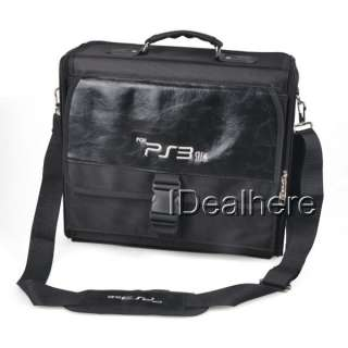 Carrying Bag Case for Sony PS3 Slim Console Accessory Black