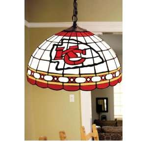 Team Logo Hanging Lamp 16hx16l Kansascity Chfs Home