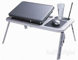 Laptop Reading Bed table adjustable Work desk Cooler