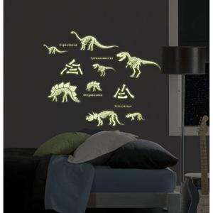 24 BiG Wall Stickers Glow in the Dark SKELETONS Room Decor Decals BR2