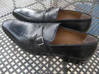 Mens Black Leather Loafers Dress Shoes Size 13 M / Spain