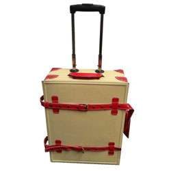 La Vida Cream Vintage look 2 piece Carry On Luggage Set