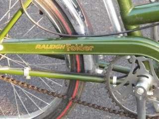 "VINTAGE RALEIGH FOLDER 20"" 3 SPEED FOLDING BICYCLE BIKE Make Offer"
