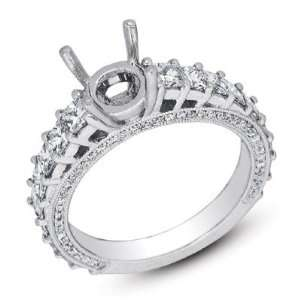 14k 1.71 Dwt Diamond White Gold Engagement Ring