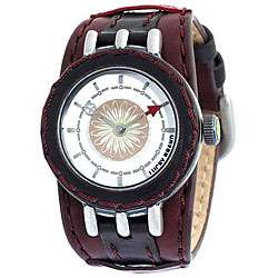 Lucky Brand Womens Brown Leather Strap Watch