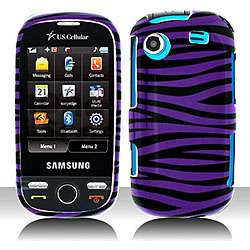 Black Purple Zebra Samsung Messager Touch Protector Case