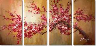Handmade Art Deco Cherry Blossom Wall Oil Painting On Canvas Chp420