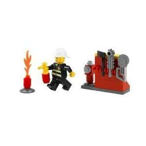 Lego City Exclusive Mini Figure Set #5613 Firefighter