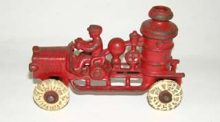 Hubley Cast Iron Fire Pumper Truck  (DAKOTApaul)