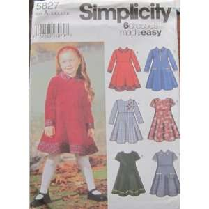 SIMPLICITY PATTERN 5827 CHILDS DRESS SIZE A 3 8 Kitchen & Dining