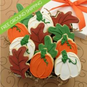 Autumn Harvest Cookie Gift Box   FREE GROUND SHIPPING: