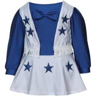 Dallas Cowboys Official Baby Cheerleader Dress sz 24 mo 767695524630
