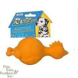 JW Pet Ruffians Rubber Dog Toy (Chicken, 6 Inches)