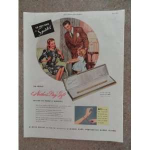 the forty niner by Speidel, Vintage 40s full page print ad (mom,dad