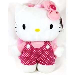 Hello Kitty Polka Dot Plush Backpack + Free Tote Bag Toys & Games