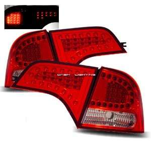 06 08 Honda Civic 4 Door LED Tail Lights   Red Clear