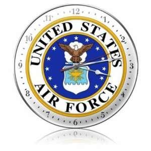 US Air Force Clock Vintage Metal Clock Military