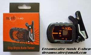 Musedo T 40 Clip Style Auto Guitar/ Bass/ Violin Tuner