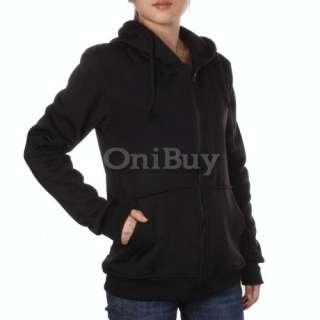 Unisex Hoodie Coat Jumper Sport Zip Up Hooded Jacket