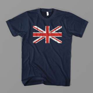 UK British Union Jack Flag 80s Punk Rock Def EMO VINTAGE FUNNY TEE T