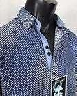 NEW JOHN LENNON English Laundry Shirt OLD DIRT ROAD in Blue Pattern