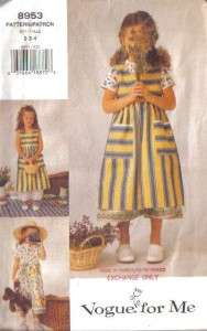 Free Dress Sewing Patterns on Vogue Sewing Pattern Little Girls Dress   Free Shipping   Your Choice