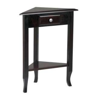 New Merlot Wood Multi Step Corner Table Storage Drawer