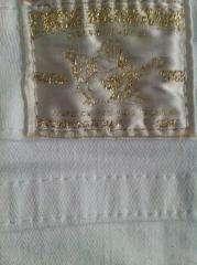 TRUE RELIGION Disco Swarovski CRYSTAL White Gold Jeans Mini Skirt 27