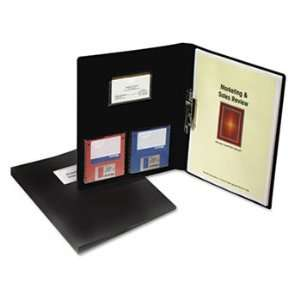 Cover w/Clamp, Letter, 1/2 Capacity, Black, 10/Box