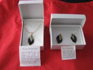 24K Goldplate Enamel Night Song Necklace Earring Set