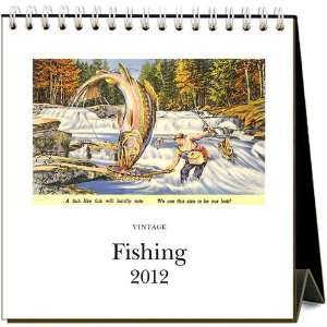 Fishing 2012 Easel Desk Calendar: Office Products