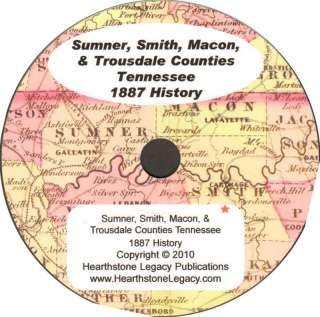 TENNESSEE * Genealogy History SUMNER COUNTY, TN 115 family biographies
