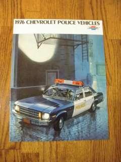 1976 Chevrolet Police Vehicles Nova Chevelle Impala NOS
