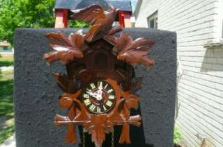 Black Forest 8 Day German Cuckoo Clock Serviced Runs Good
