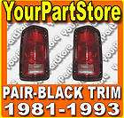 81 93 DODGE RAM PU Pickup TRUCK TAIL LIGHTS Lamps Left and Right Rear