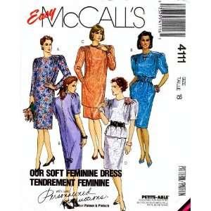 McCalls 4111 Sewing Pattern Dress Tunic Top Skirt Size 18