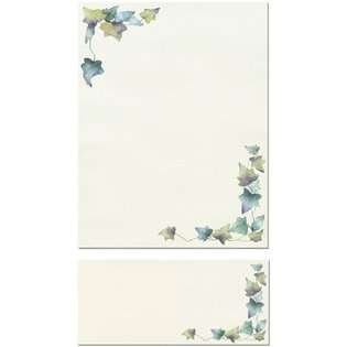 The 200 Painted Leaf Border Letterhead Sheets and 200 Matching