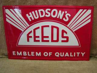 Feed Sign  Embossed Antique Old Seed Scioto Signs Farm 6526