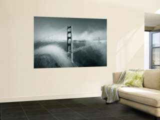 Bridge with Mist and Fog, San Francisco, California, USA Wall Mural