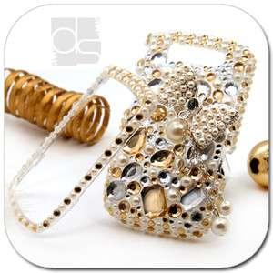 3D Custom Bling Gold Crystal Hard Skin Case Cover For Blackberry Torch