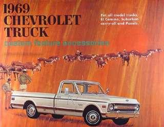 1969 Chevrolet Truck Accessory Book Chevy 69 Pickup El Camino Suburban